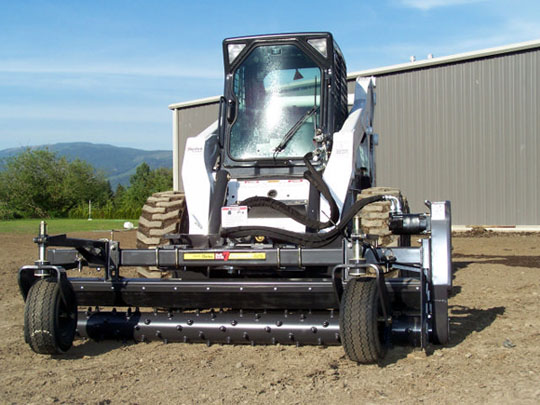 Landscape Rake For Bobcat : Skid steer landscape attachments